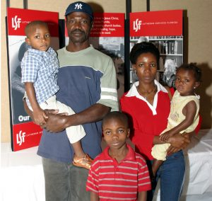 Refugee Resettlement - Family with LSF Display