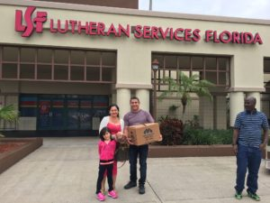 LSF Refugee Families Receiving Donated Food Provided by Metropolitan Ministries